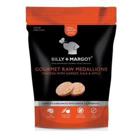 Billy + Margot Gourmet Raw Medallions - Chicken with Carrot, Kale & Apple - Frozen in Store Only