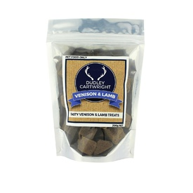 Dudley Cartwright New Zealand Dried Lamb & Venison Cube Dog Treat 200g