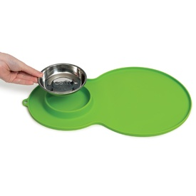 Catit Flower Fountain Placemat with Stanless Steel Bowl - Green