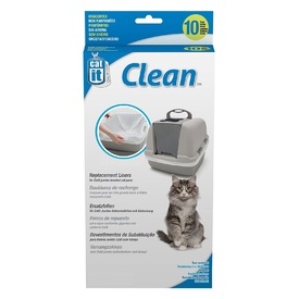 Catit Clean Unscented Litter Tray Liners for Catit Litter Trays - 10-pack - Jumbo
