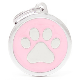 My Family Pet ID Tag Classic Pink Paw - Large - Includes FREE Engraving