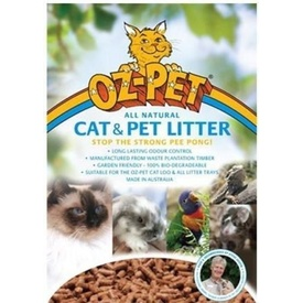 Oz Pet Cat & Small Animal Wood Pellet Litter Pellets 15kg