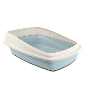 Cat Love Cat Litter Tray with Easy to Clean Removeable Rim