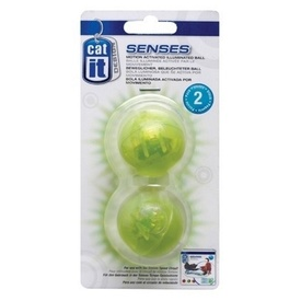 Catit Senses Motion Activated Flashing Balls Cat Toys - 2 pack