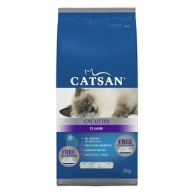 Catsan High Absorbancy Cat Litter Crystals with Added Freshener - 2kg