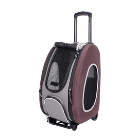 Ibiyaya Convertable Pet Carrier with Wheels - Chocolate