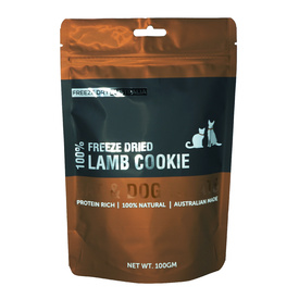 Australian Freeze Dried Lamb Cookies Natural Treats for Cats & Dogs 100g
