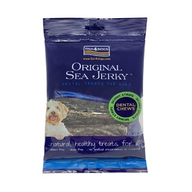 Fish 4 Dogs Sea Jerky Skinny Strips Fish Skin 100% Fish Treats