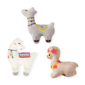 Fringe Studio Minis Llama Love 3-Piece Plush Dog Toy Set