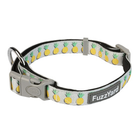 Fuzzyard Neoprene Adjustable Dog Collar with Lockable Buckle - Pina Colada