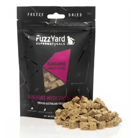 Fuzzyard Natural Freeze Dried Cat Treats - Kangaroo with Sweet Potato 40g