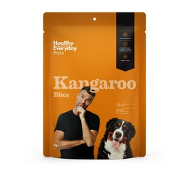 Healthy Everyday Pets by Pete Evans Grain Free Treats for Cats & Dogs - Kangaroo Bites 50g