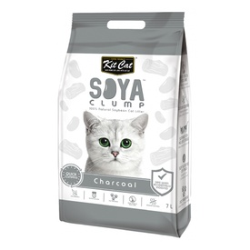 Kit Cat Soya Clumping Cat Litter made from Soybean Waste - Charcoal 7 Litres