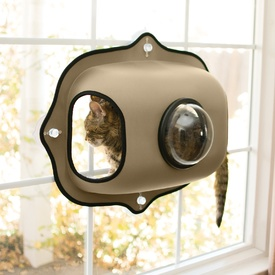 K&H EZ Mount Bubble Window Pod & Cat Perch - Tan