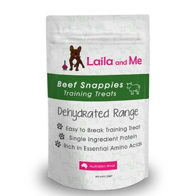 Laila & Me Dehydrated Australian Beef Snappies Dog Treats 70g/180g