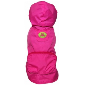 FabDog Waterproof Jacket Rain Coat for Dogs - Hot Pink Crab - Small