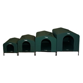 Houndhouse Kennel Flea-Free Waterproof Canvas Dog House - Includes Sleep Mat