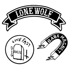 Pethaus Australia Lone Wolf Iron-On Patch Set with 3 Patches