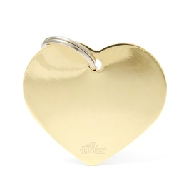 My Family Pet ID Tag Classic Heart Gold Large ~ Includes FREE Engraving