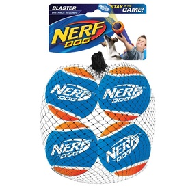 Nerf Dog Toy Distance Tennis Balls 4-Pack Blaster Accessory