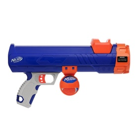 NERF Dog Mini Compact Ball Blaster Dog Toy - Blue