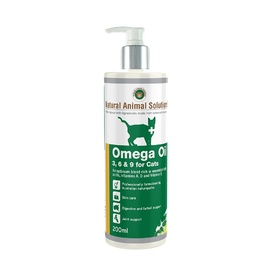 Natural Animal Solutions Omega 3,6 & 9 Supplement Oil for Cats 200ml
