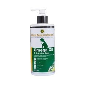Natural Animal Solutions Omega 3,6 & 9 Supplement Oil for Dogs 500ml