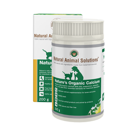Natural Animal Solutions Nature's Organic Calcium Supplement for Cats & Dogs 200g