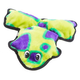 Invincibles Frog Squeaker Dog Toy Green/Purple