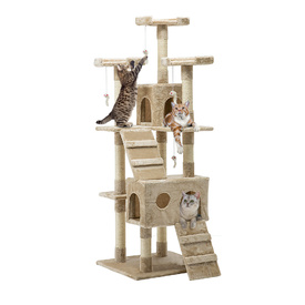Extra Tall Multi Level Sisal Cat Scratching Tree - 180cm Beige