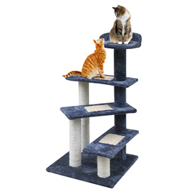 Carpet & Natural Sisal Cat Scratch Climbing Tree 100cm Grey