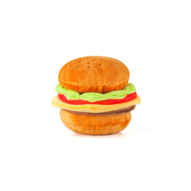P.L.A.Y. American Classic Fast Food Plush & Squeaky Dog Toy – Barky Burger