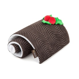 PLAY Christmas Holiday Classic Plush & Squeaker Dog Toy - Yummy Yule Log
