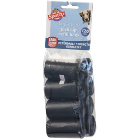 Spotty Bags to Go - Dog Waste Pick-up Bags - 120 Black