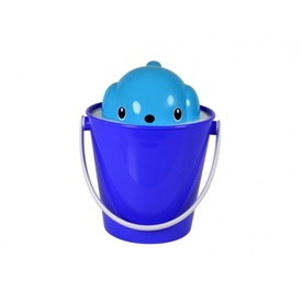 Crock Food Container with scoop by United Pets - Blue
