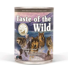 Taste of the Wild Grain Free Moist Dog Food - Wetlands 374g cans