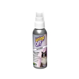 Urine Off Odour & Stain Remover Spray for Cat & Kitten Pee - 118ml