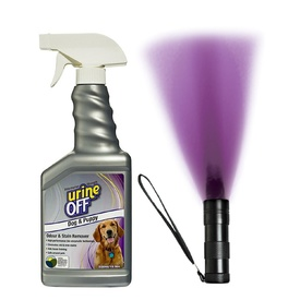 Urine Off Spray for Dog & Puppy Pee plus Urine Finder - 500ml