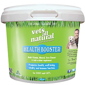 Vets All Natural Health Booster Natural Multivitamin Nutritional Supplement for Cats & Dogs
