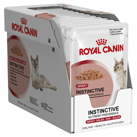 Royal Canin Instinctive Moist Adult Cat Food in Gravy x 12 Pouches