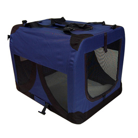 Extra Large Portable Soft Pet Dog Crate Cage Kennel in Blue