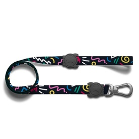 Zee Dog Leash with Power Hook - Kaboom Multi-Colour Squiggles