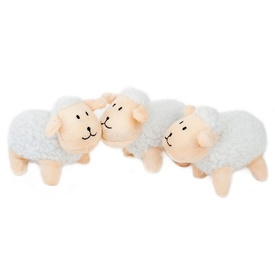 Zippy Paws Burrow Dog Toy Refill 3-Pack of Replacement Sheep