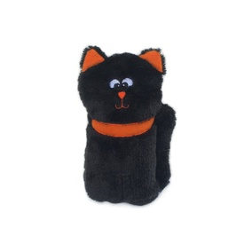 Zippy Paws Colossal Buddie Squeaker Toy for Dogs - Black Cat