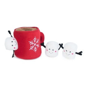 Zippy Paws Christmas Holiday Burrow Dog Toy - Hot Cocoa & Marshmallows