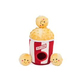 Zippy Paws Burrow Interactive Dog Toy - Popcorn in a Bucket