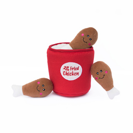 Zippy Paws Burrows Interactive Squeaker Dog Toys - Bucket of Chicken