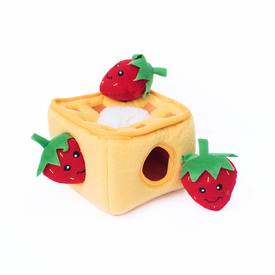 Zippy Paws Burrow Interactive Dog Toy - Strawberry Waffles