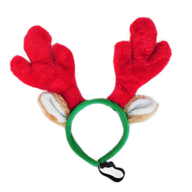 Zippy Paws Christmas Deer Antler Headband for Dogs