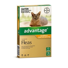 Advantage Spot-On Flea Control Treatment for Cats Under 4kg